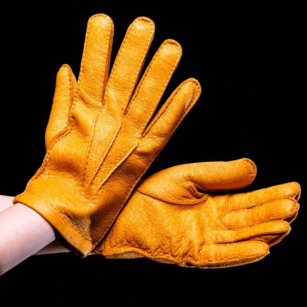 Перчатки мужские Omega Pecary Giallo